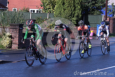 Leading riders stage 4 tour of Britain cycle race Editorial Stock Image