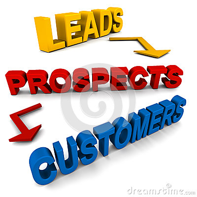 Free Leads Prospects Customers Stock Photos - 26339823