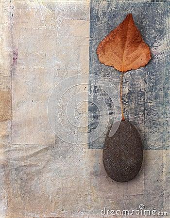 Free Leaf And Stone Background Stock Image - 322331