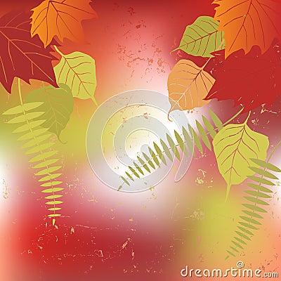 Leaf, autumn - vector background