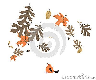 Leaf and bird
