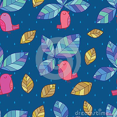 Free Leaf Bird Top Style Seamless Pattern Royalty Free Stock Image - 110943646