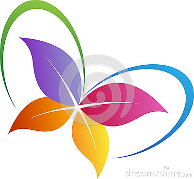 Free Leaf Butterfly Logo Stock Images - 41331284