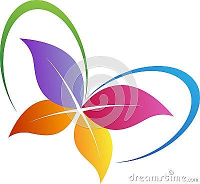 Leaf butterfly logo Vector Illustration
