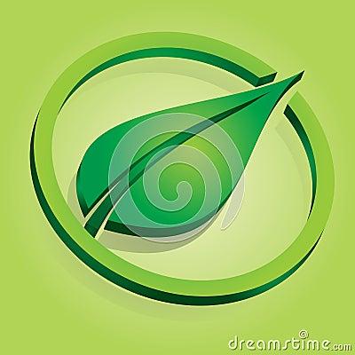Leaf and circle