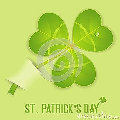 Leaf Clover on St. Patrick s Day