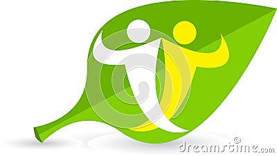 Leaf couple logo