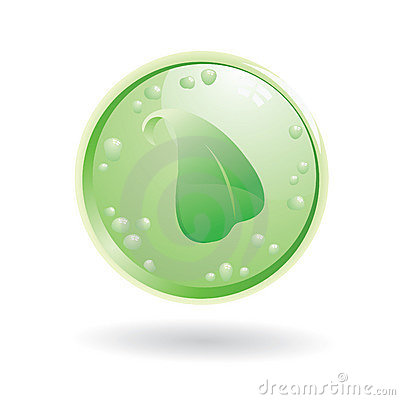 Leaf ecology button