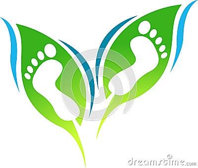 Leaf foot print