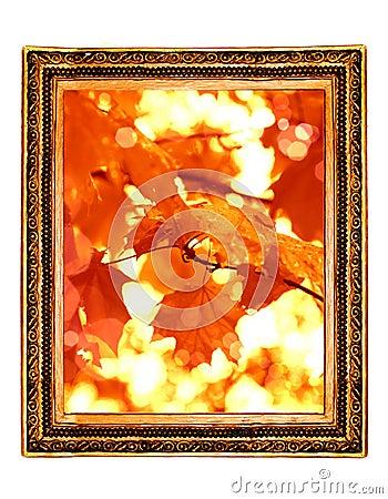 Leaf Framework in antique