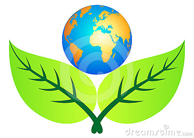 Leaf with globe