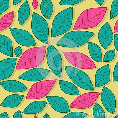 Free Leaf Pastel Pink And Green Color Seamless Pattern Royalty Free Stock Photo - 110299095