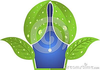 Leaf pen logo