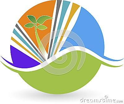 Leaf plant logo