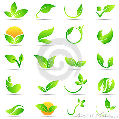 Leaf plant logo wellness nature ecology symbol vector icon design. Vector Illustration