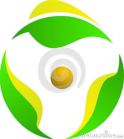 Leaf rotation logo