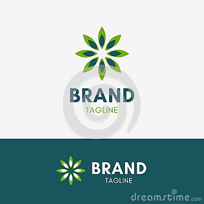Leaf Spa Harmony Logo Vector Illustration