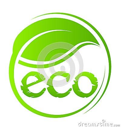 Eco green seal logo