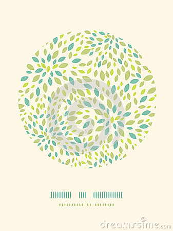 Leaf texture circle decor pattern background