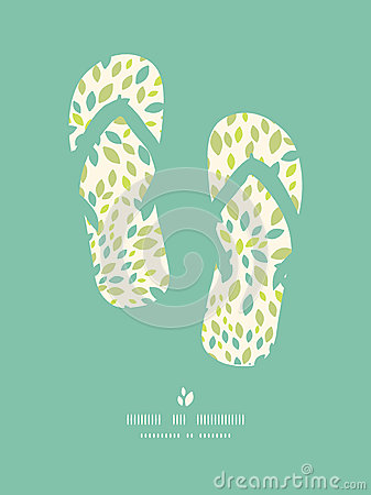 Leaf texture flip flops decor pattern background