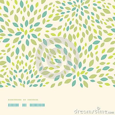 Leaf texture horizontal border seamless pattern