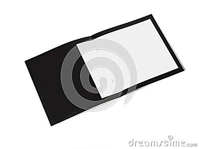 Leaflet blank Black paper