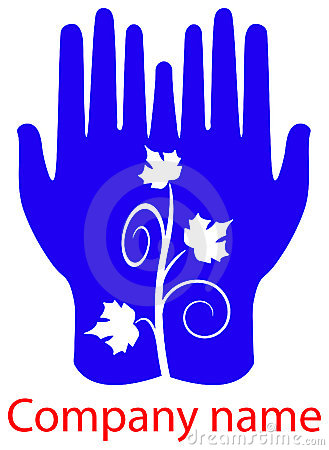 Leafs in hands