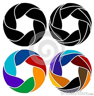 Leafs logo set