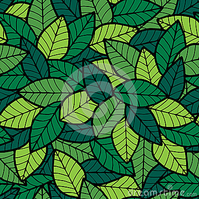 Leafs Seamless Pattern Spring