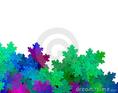 Leafy Foliage over white background