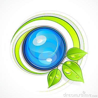 Leafy green eco button
