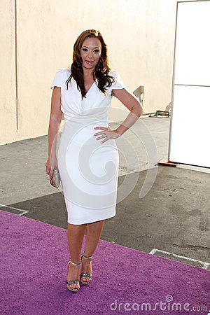Leah Remini arrives at the ABC / Disney International Upfronts Editorial Photo