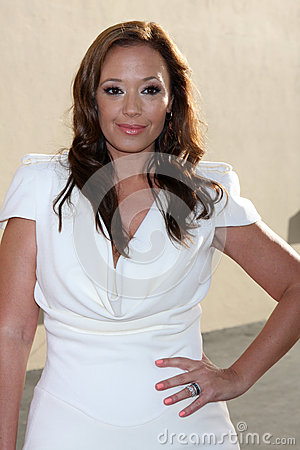 Leah Remini arrives at the ABC / Disney International Upfronts Editorial Stock Photo