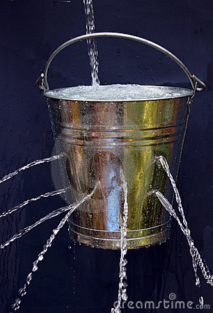 Free Leaky Bucket Stock Image - 5839431