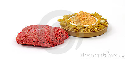 Lean Beef Pasta and Sauce Mix Angle
