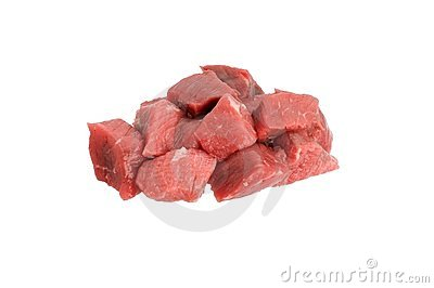 Lean cube red meat