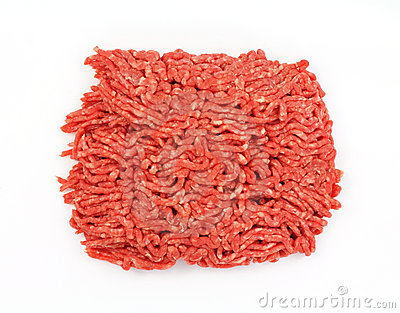 Lean Ground Beef Overhead View