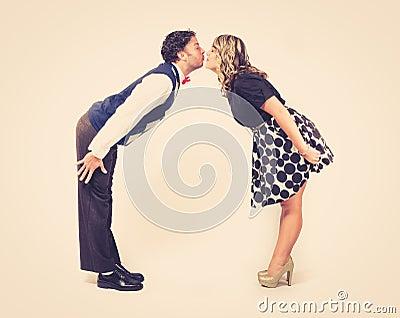 Lean in Kissing Retro