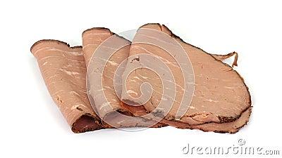 Lean Roast Beef Slices Arranged