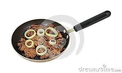 Lean shredded steak cooked