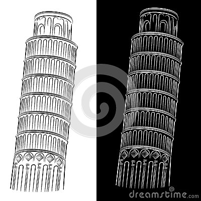 Leaning Tower of Pisa Drawing
