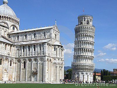 The leaning tower of Pisa and the Duomo