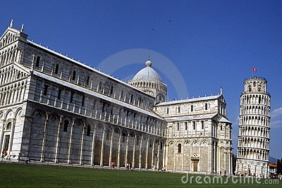 The Leaning Tower of Pisa and Duomo.