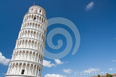 Leaning Tower of Pisa with free space