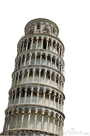 Leaning Tower of Pisa - isolated