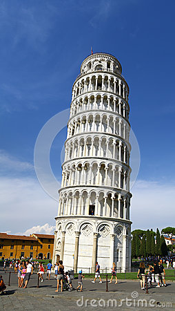 Leaning Tower of Pisa Italy Editorial Photo