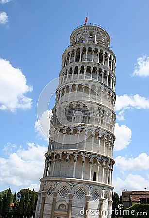 Leaning Tower of Pisa landmark in Italy