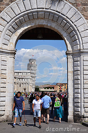 Leaning tower of Pisa, Rome Editorial Photo