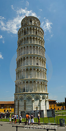 Leaning Tower of Pisa Tourist Destination Editorial Image