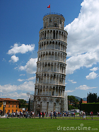 Leaning Tower with tourists